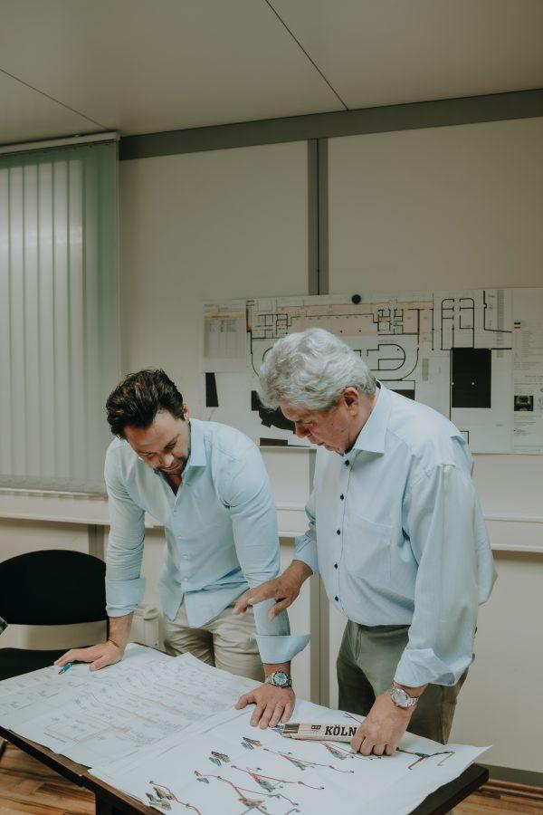 André Rockstroh & Karl Fuchs planen Klimalösung für Industriekunden auf Bauplan