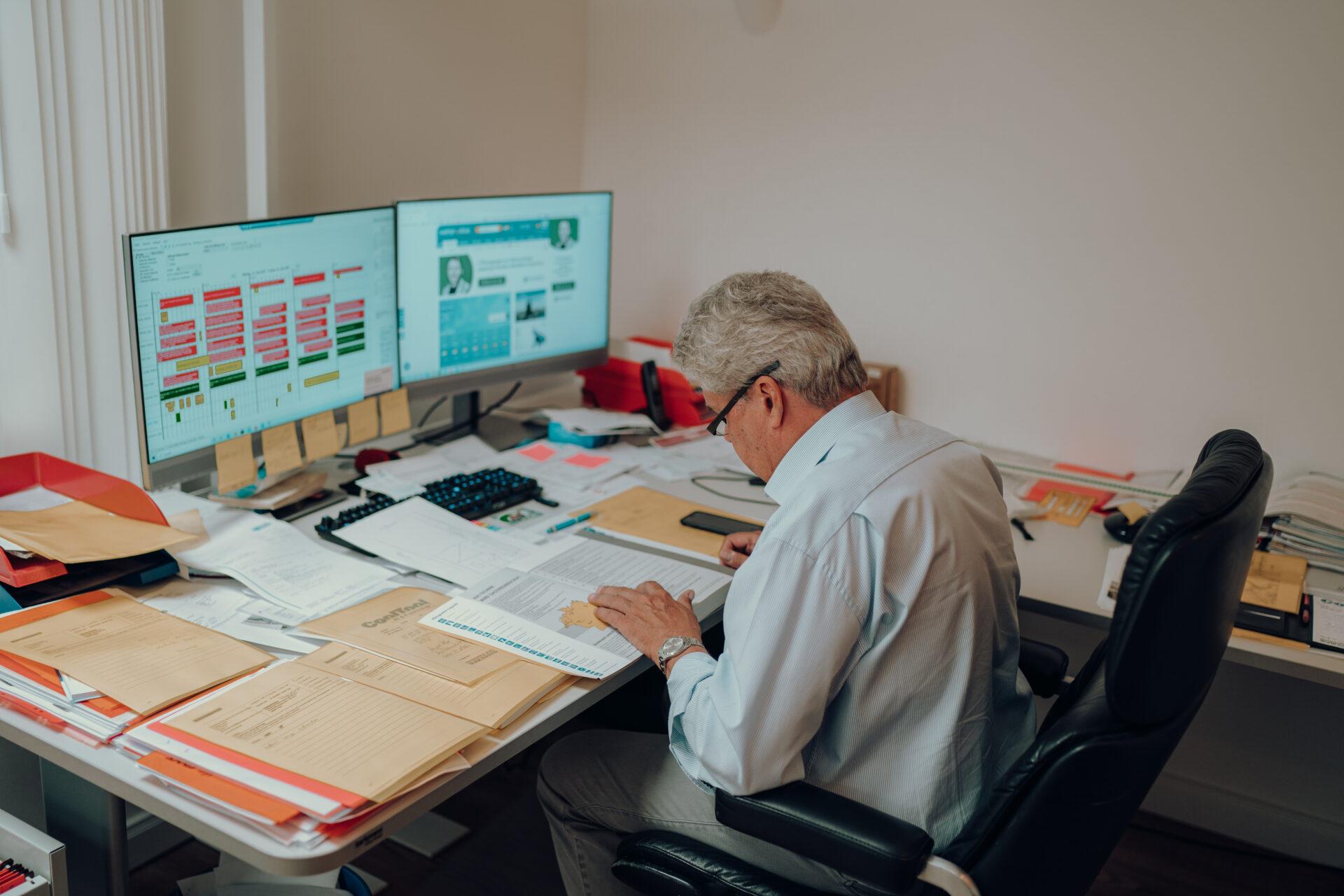 Karl Fuchs erstellt individuelles Angebot für eine Klimaanlage