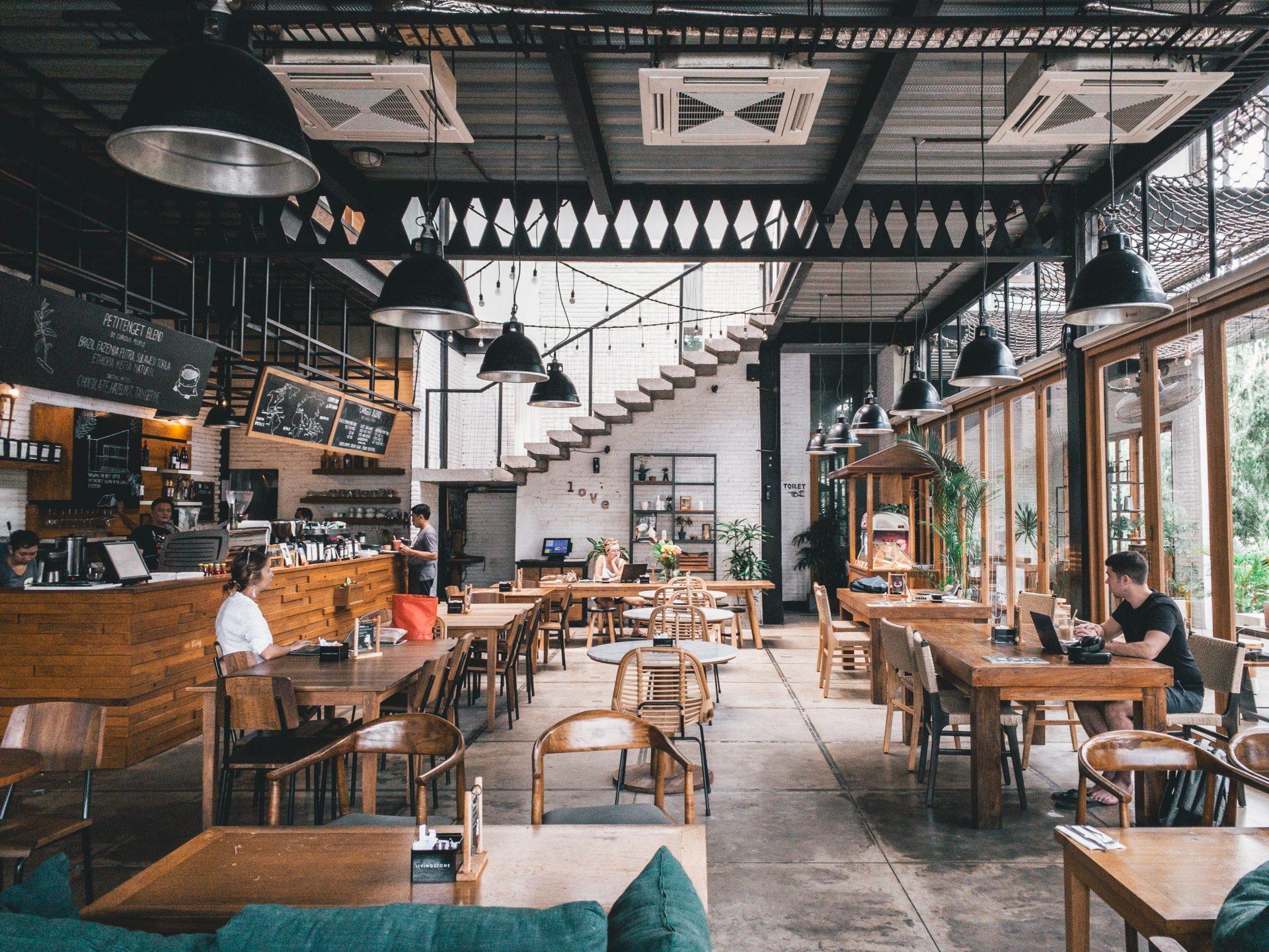 Klimatechnik installiert in einem Restaurant